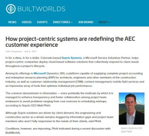 BuiltWorlds interview with Matt Pfohl discussing customer expectations towards project-centric systems